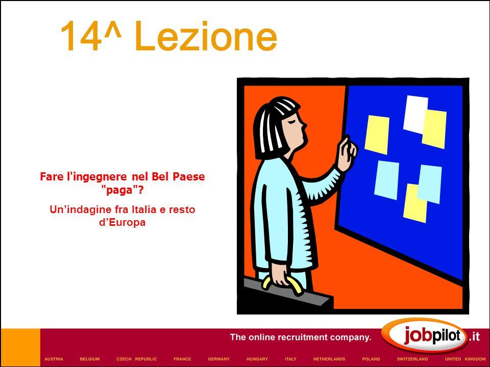 Fare l ingegnere nel Bel Paese paga Unindagine fra Italia e resto dEuropa 14^ Lezione