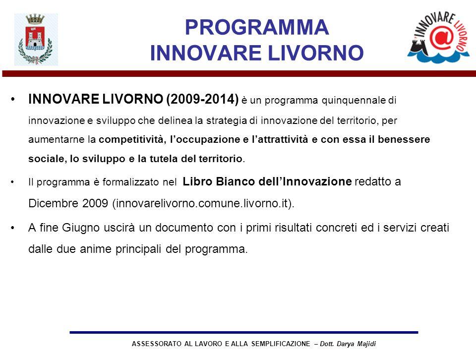 ASSESSORATO AL LAVORO E ALLA SEMPLIFICAZIONE – Dott.