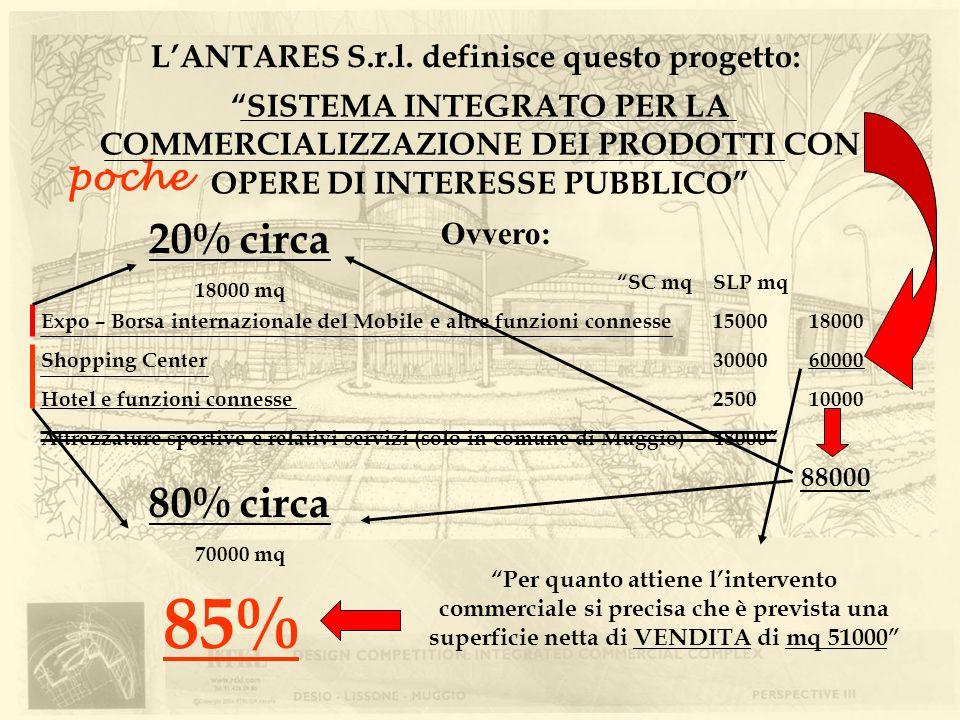 SISTEMA INTEGRATO PER LA COMMERCIALIZZAZIONE DEI PRODOTTI CON OPERE DI INTERESSE PUBBLICO LANTARES S.r.l. definisce questo progetto: Ovvero: SC mqSLP