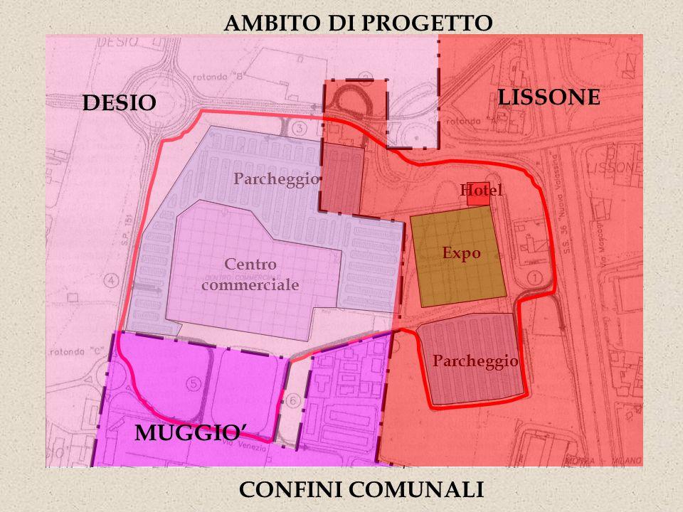 Centro commerciale Parcheggio Expo Hotel AMBITO DI PROGETTO CONFINI COMUNALI DESIO MUGGIO LISSONE