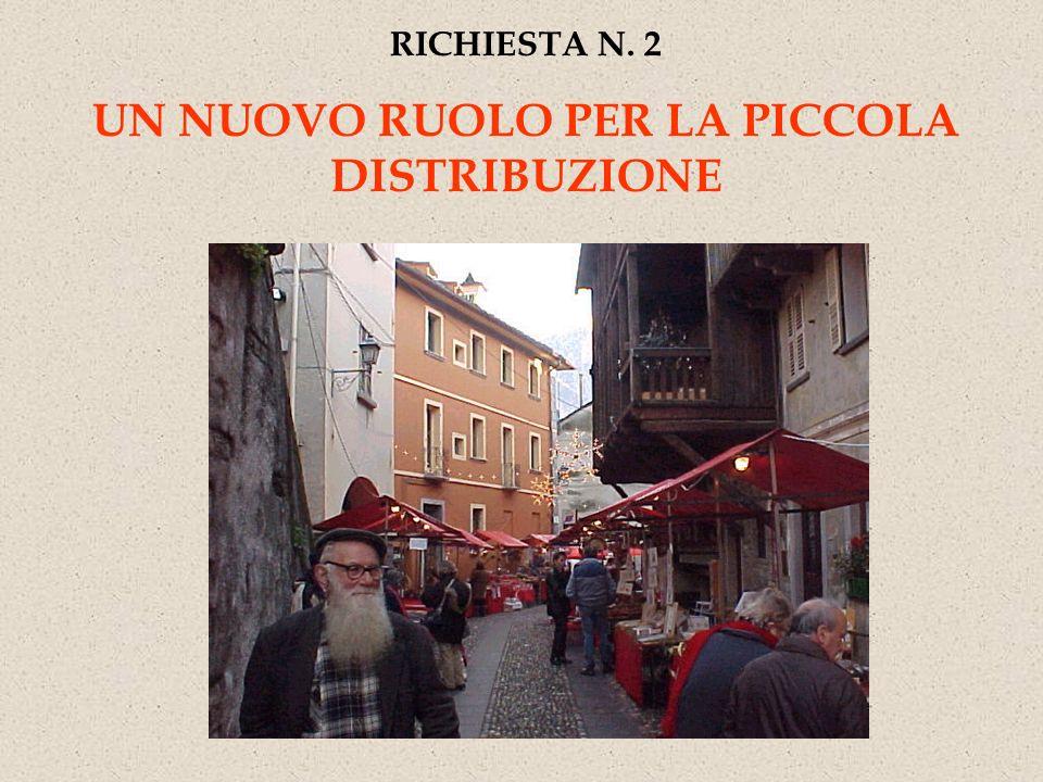 RICHIESTA N. 2 UN NUOVO RUOLO PER LA PICCOLA DISTRIBUZIONE