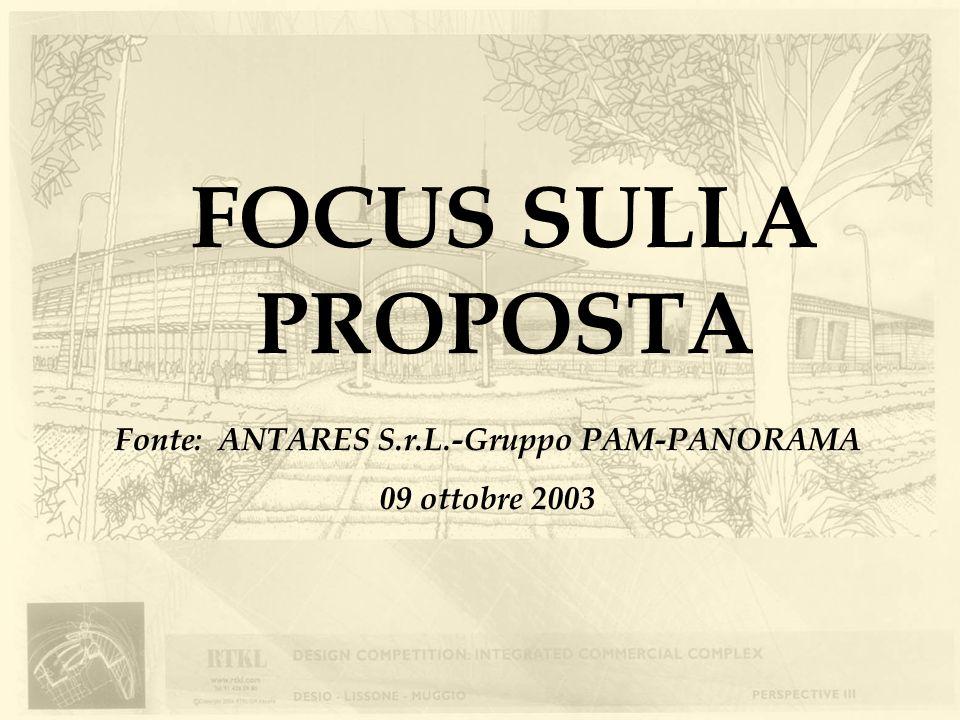 FOCUS SULLA PROPOSTA Fonte: ANTARES S.r.L.-Gruppo PAM-PANORAMA 09 ottobre 2003
