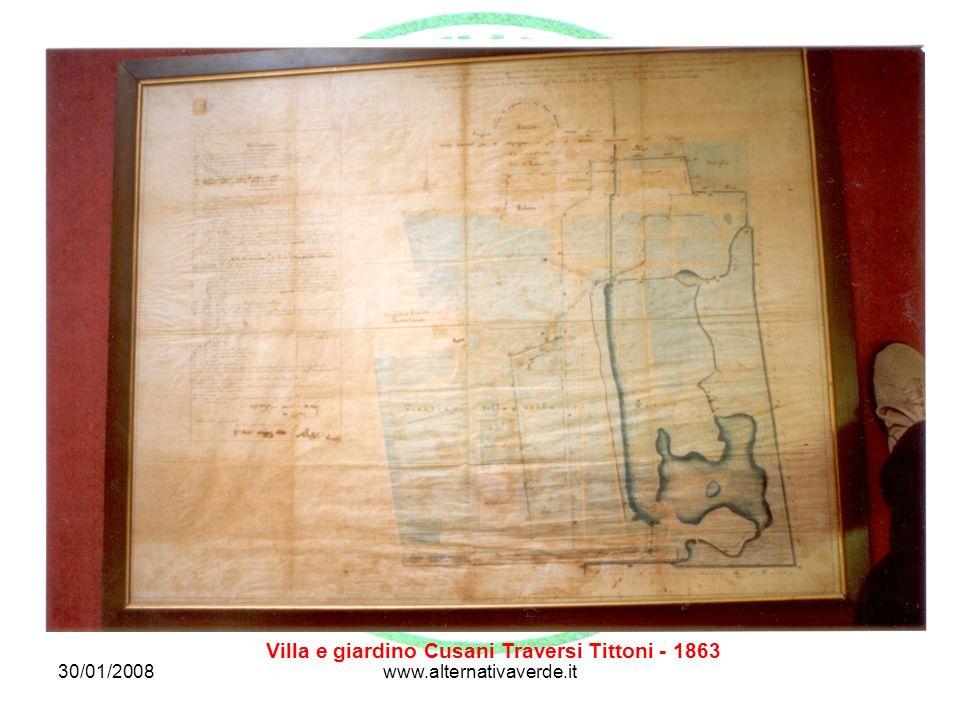 30/01/2008www.alternativaverde.it Villa e giardino Cusani Traversi Tittoni - 1863