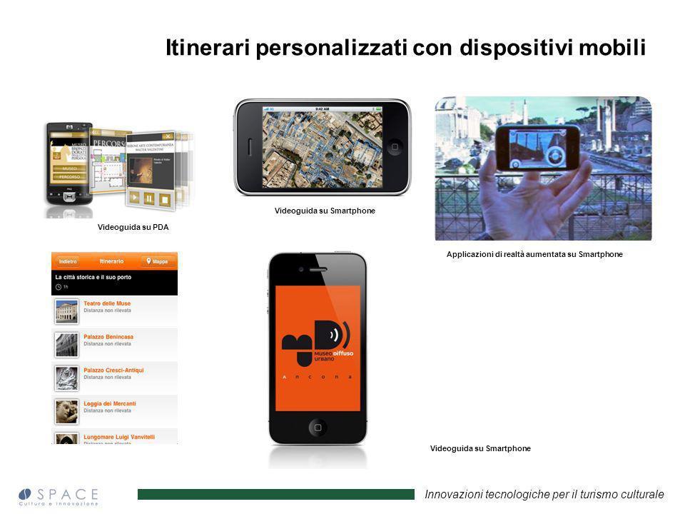 Innovazioni tecnologiche per il turismo culturale Videoguida su PDA Videoguida su Smartphone Applicazioni di realtà aumentata su Smartphone Videoguida