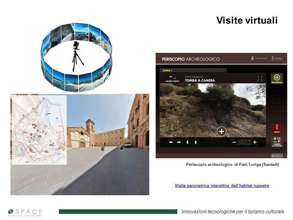 Innovazioni tecnologiche per il turismo culturale Periscopio archeologico di Pani Loriga (Santadi) Visita panoramica interattiva dellhabitat rupestre