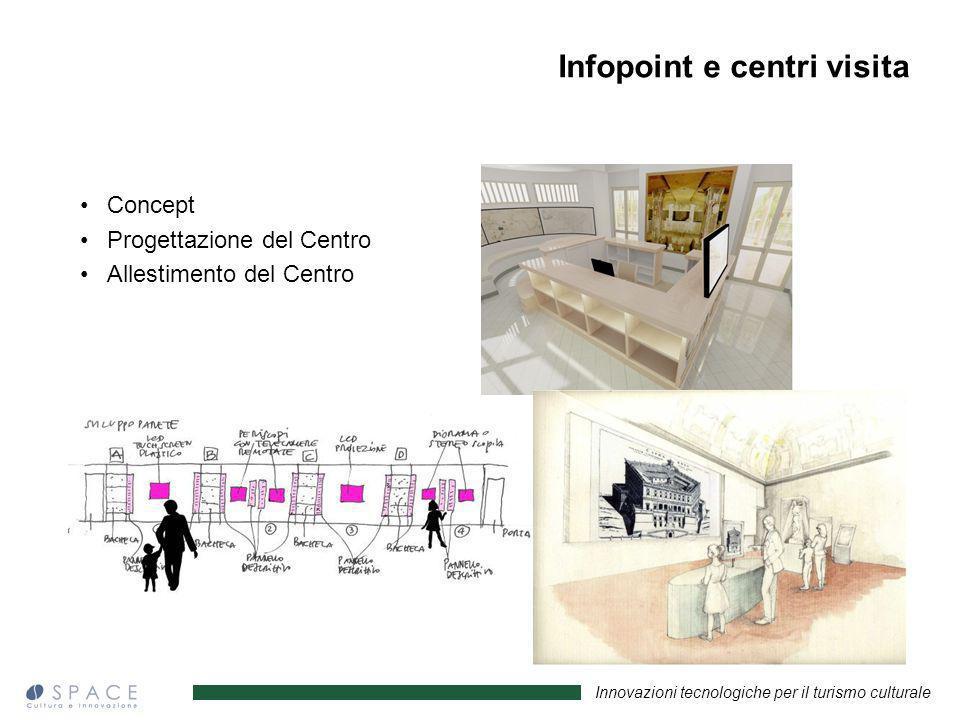 Innovazioni tecnologiche per il turismo culturale Concept Progettazione del Centro Allestimento del Centro Infopoint e centri visita