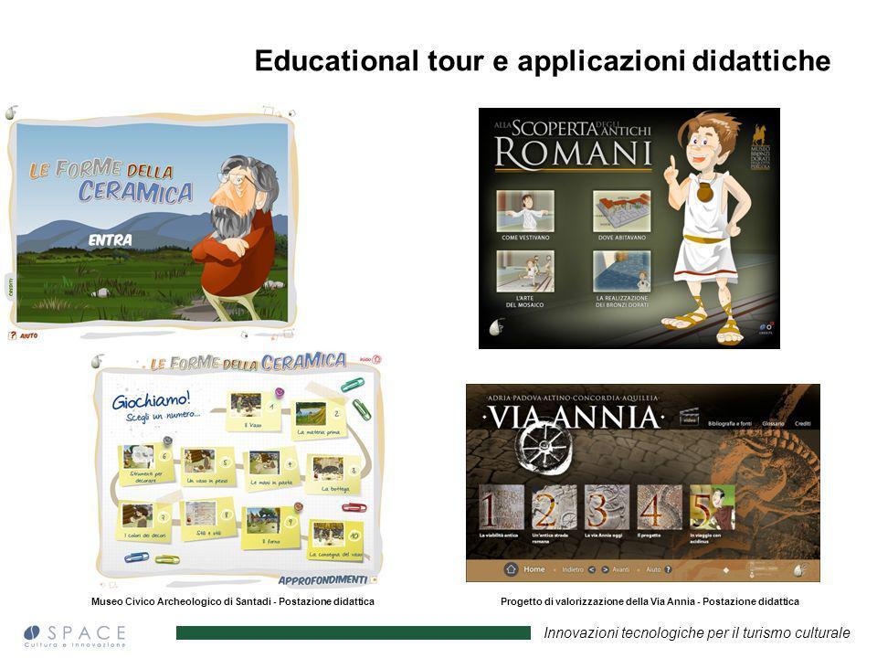 Innovazioni tecnologiche per il turismo culturale Museo Civico Archeologico di Santadi - Postazione didattica Museo dei bronzi dorati Pergola - Postaz