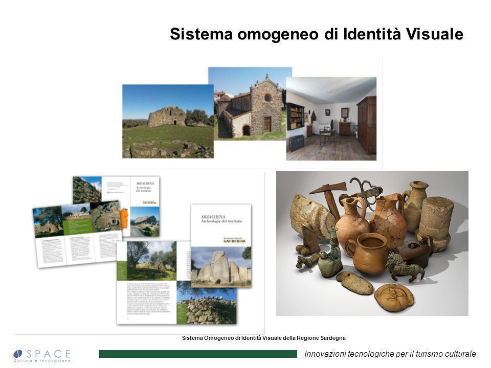 Innovazioni tecnologiche per il turismo culturale Sistema Omogeneo di Identità Visuale della Regione Sardegna Sistema omogeneo di Identità Visuale