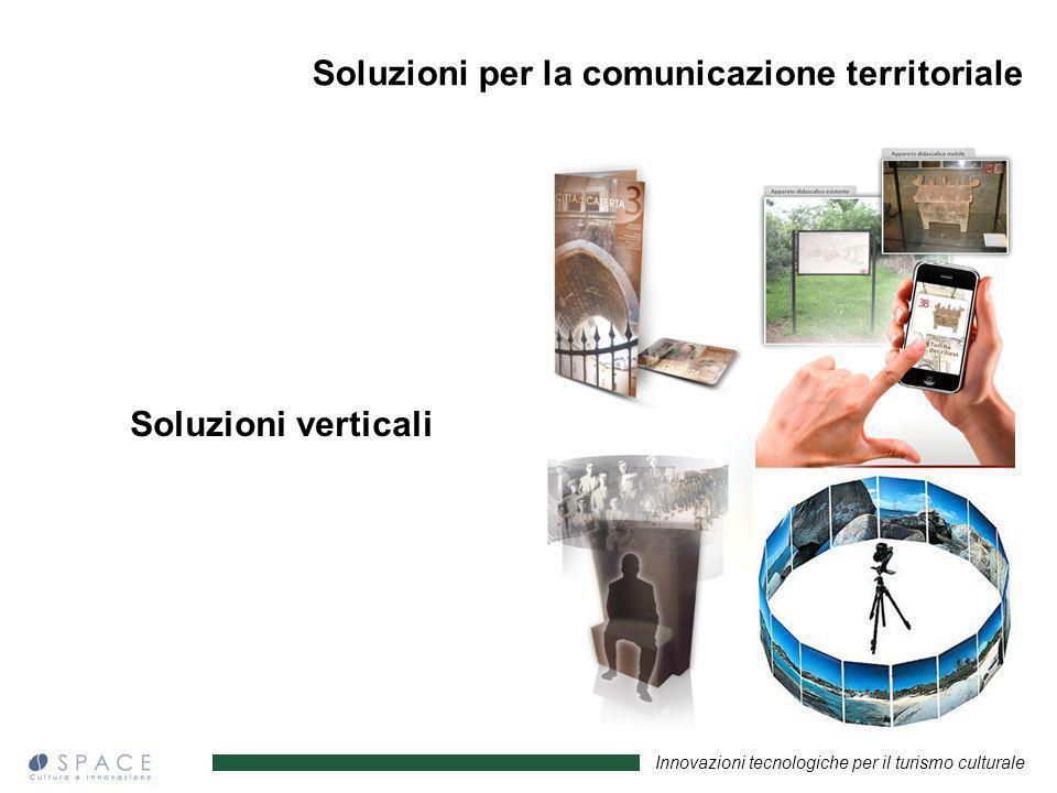 Innovazioni tecnologiche per il turismo culturale Soluzioni verticali Soluzioni per la comunicazione territoriale