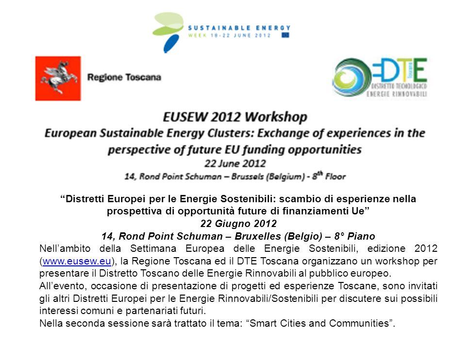 Distretti Europei per le Energie Sostenibili: scambio di esperienze nella prospettiva di opportunità future di finanziamenti Ue 22 Giugno 2012 14, Ron