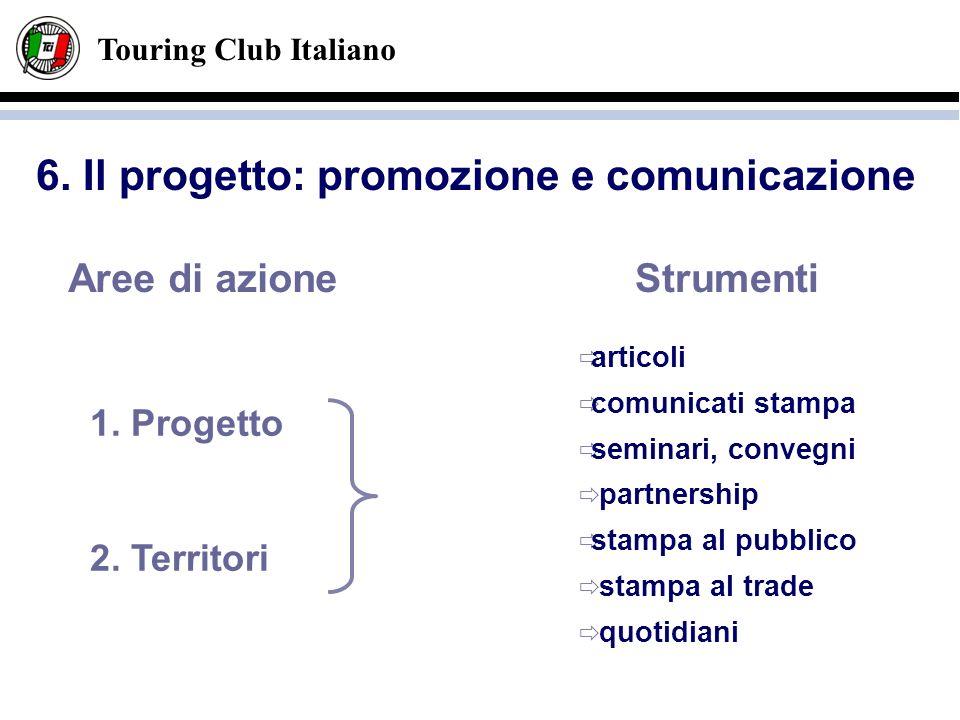 Touring Club Italiano Strumenti articoli comunicati stampa seminari, convegni partnership stampa al pubblico stampa al trade quotidiani Aree di azione