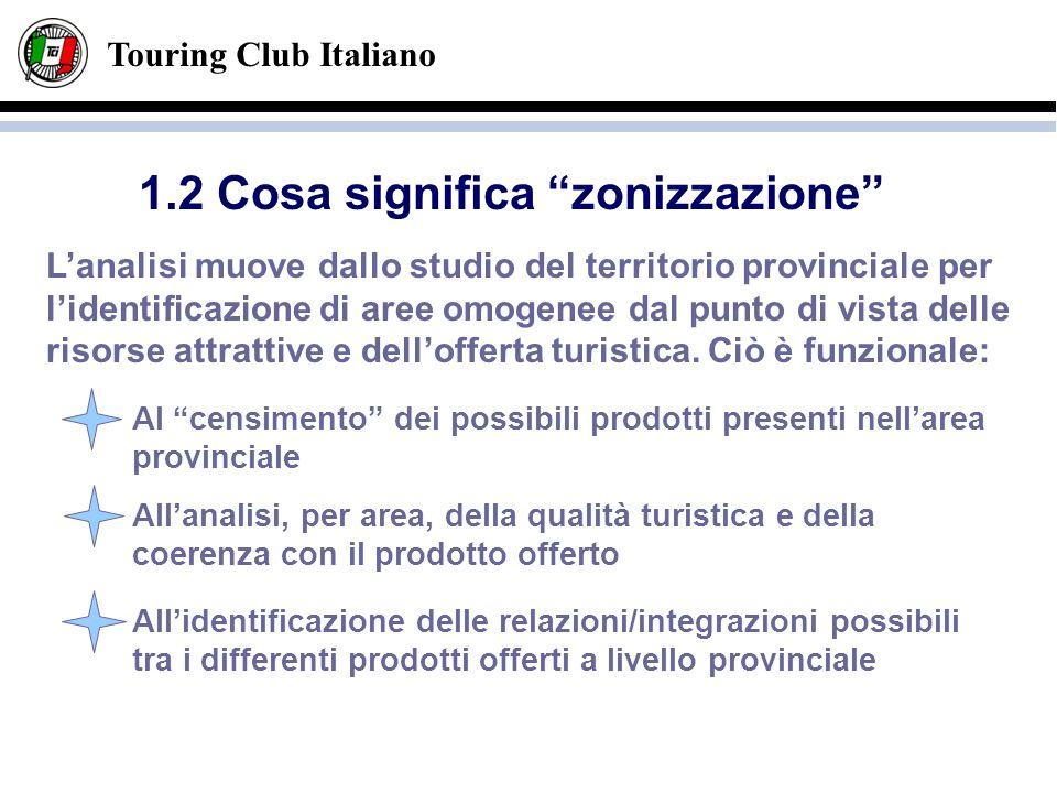 Touring Club Italiano Lanalisi muove dallo studio del territorio provinciale per lidentificazione di aree omogenee dal punto di vista delle risorse at