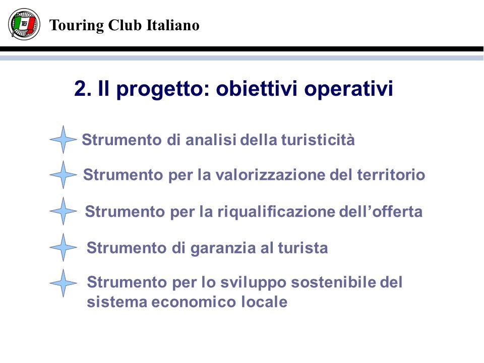 Touring Club Italiano Strumento per la valorizzazione del territorio Strumento per la riqualificazione dellofferta Strumento di garanzia al turista St