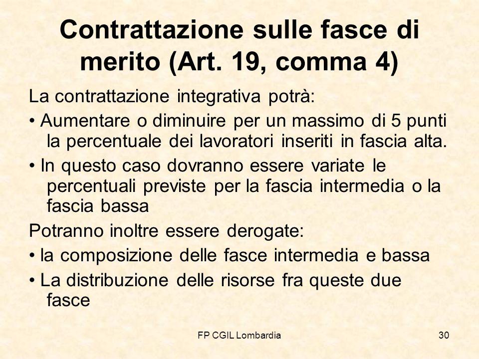 FP CGIL Lombardia30 Contrattazione sulle fasce di merito (Art.