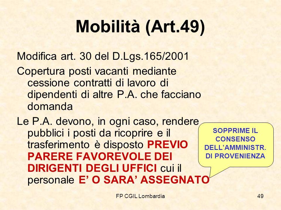 FP CGIL Lombardia49 Mobilità (Art.49) Modifica art.