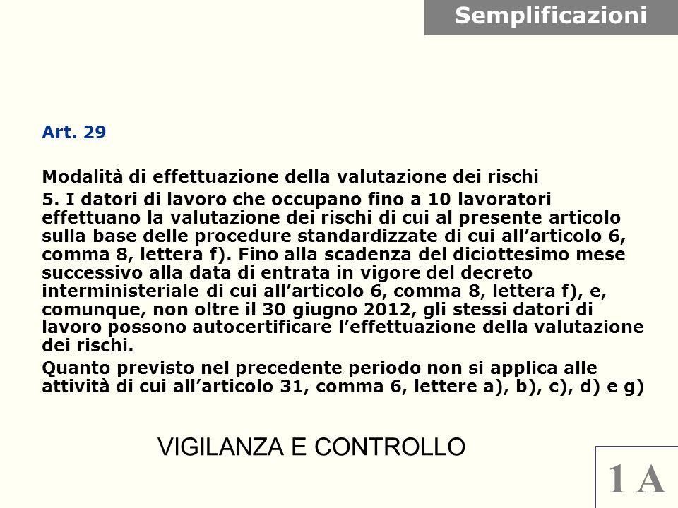 Art. 29 Modalità di effettuazione della valutazione dei rischi 5. I datori di lavoro che occupano fino a 10 lavoratori effettuano la valutazione dei r