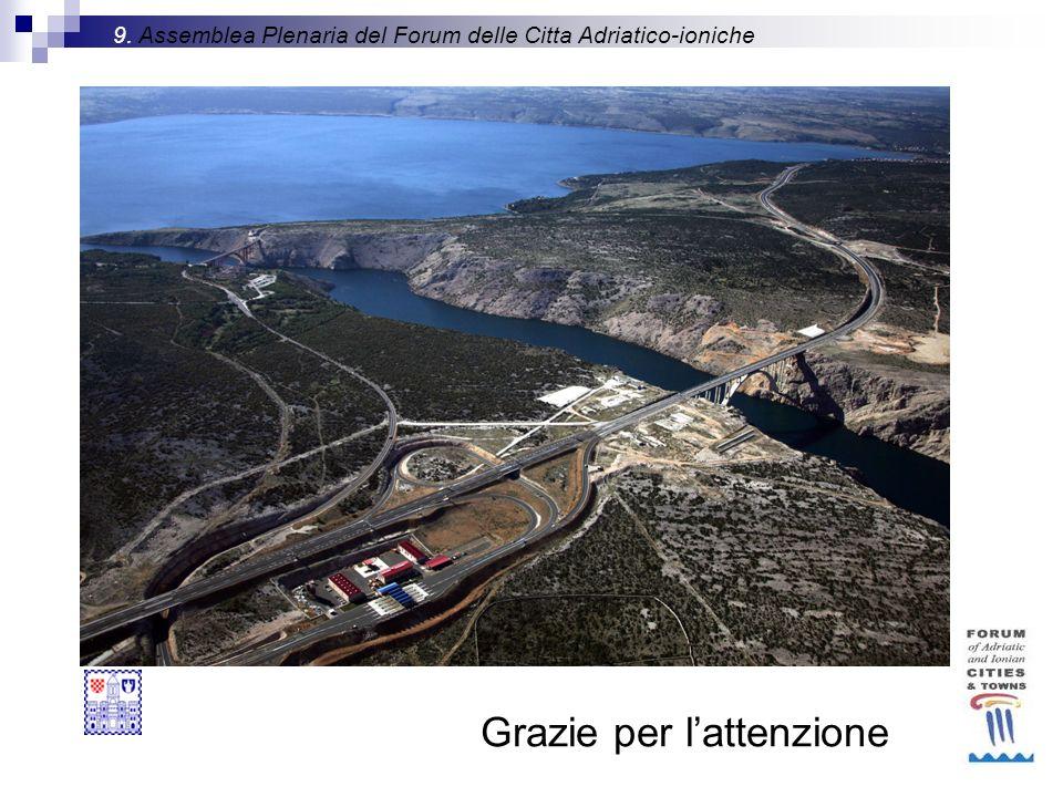 Grazie per lattenzione 9. Assemblea Plenaria del Forum delle Citta Adriatico-ioniche