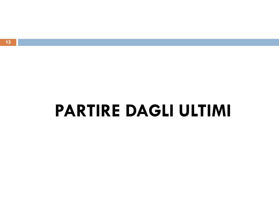 PARTIRE DAGLI ULTIMI 13