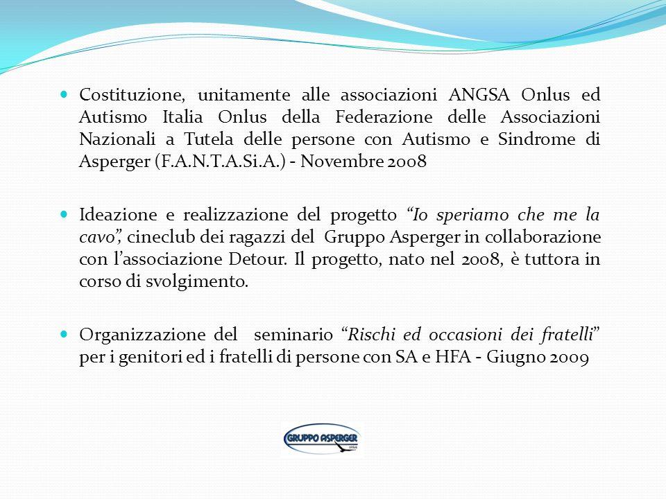 Costituzione, unitamente alle associazioni ANGSA Onlus ed Autismo Italia Onlus della Federazione delle Associazioni Nazionali a Tutela delle persone c
