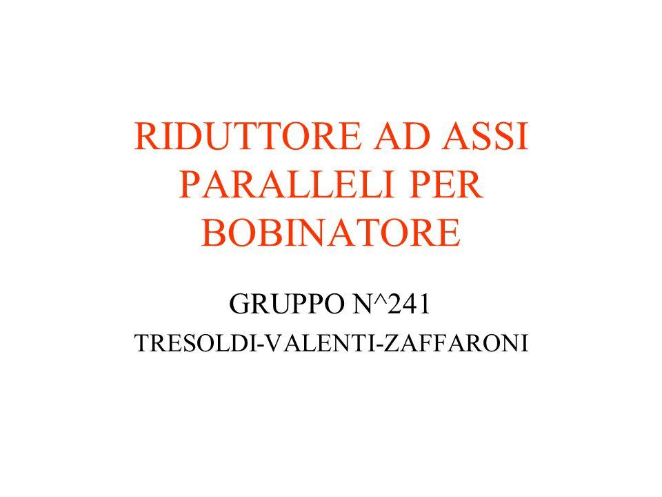 RIDUTTORE AD ASSI PARALLELI PER BOBINATORE GRUPPO N^241 TRESOLDI-VALENTI-ZAFFARONI