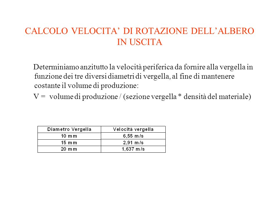 ASSE INTERMEDIO Verifichiamo prima la resistenza dellalbero nel caso in cui sia inserito il rapporto 29/90.