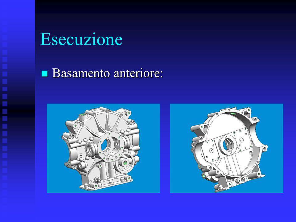 Esecuzione Basamento anteriore: Basamento anteriore: