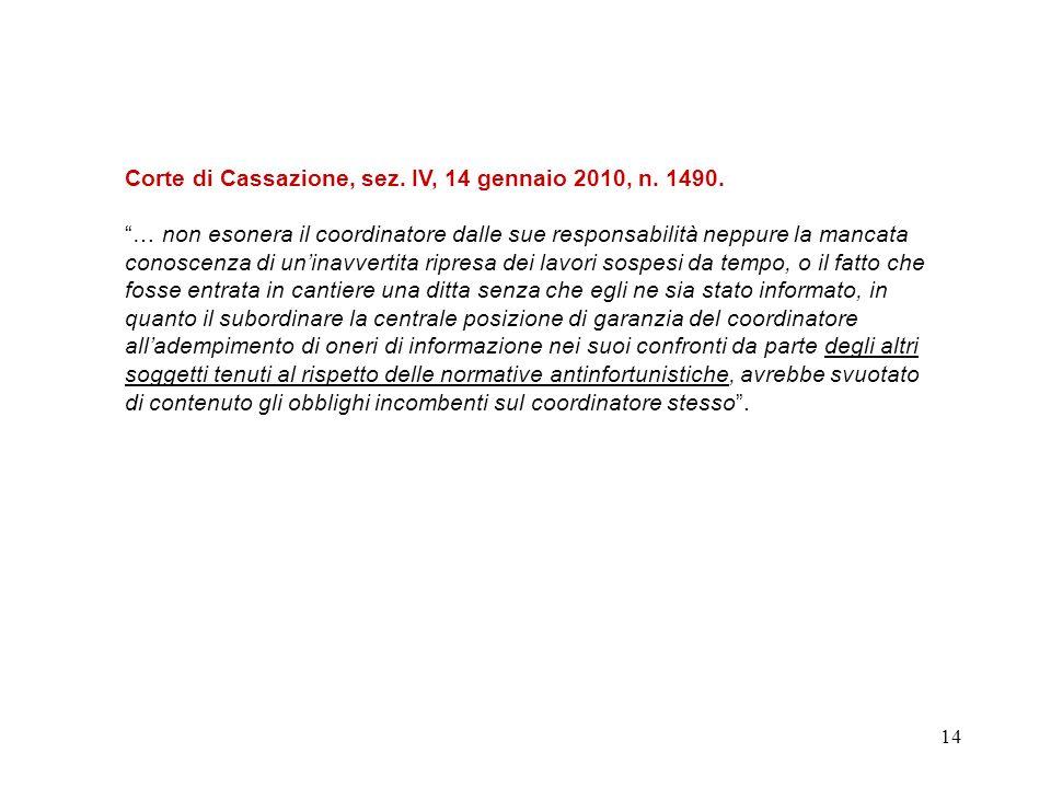 13 Cassazione - IV Sezione Penale - Sentenza n.