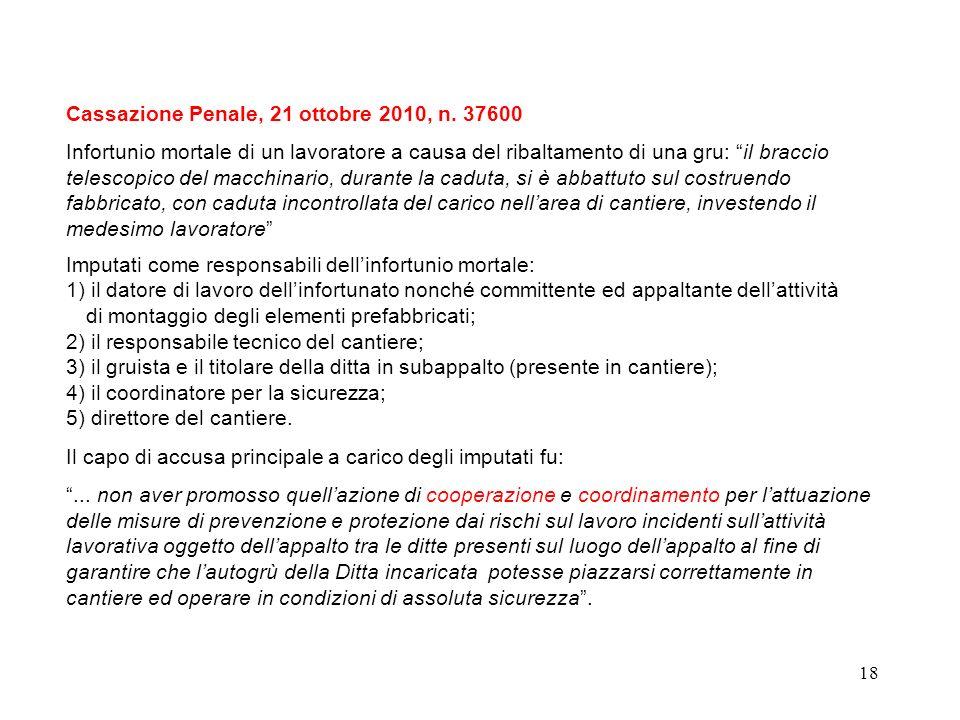 17 Articolo 92 - Obblighi del coordinatore per lesecuzione dei lavori 1.