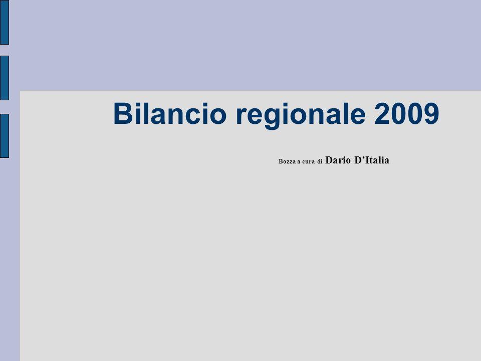Bilancio regionale 2009 Bozza a cura di Dario DItalia
