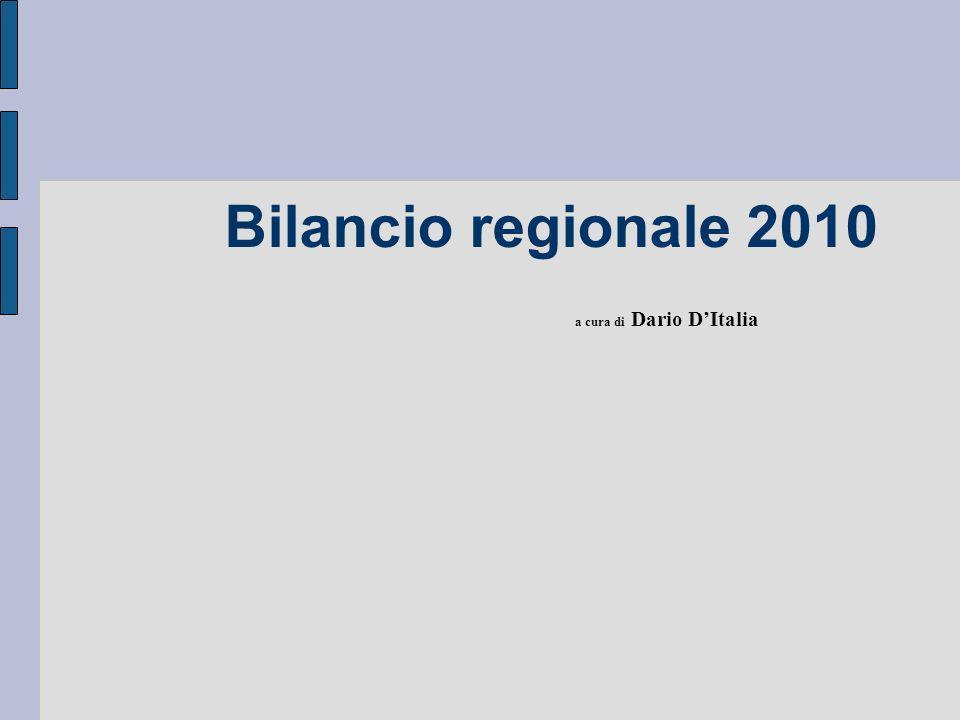 Bilancio regionale 2010 a cura di Dario DItalia