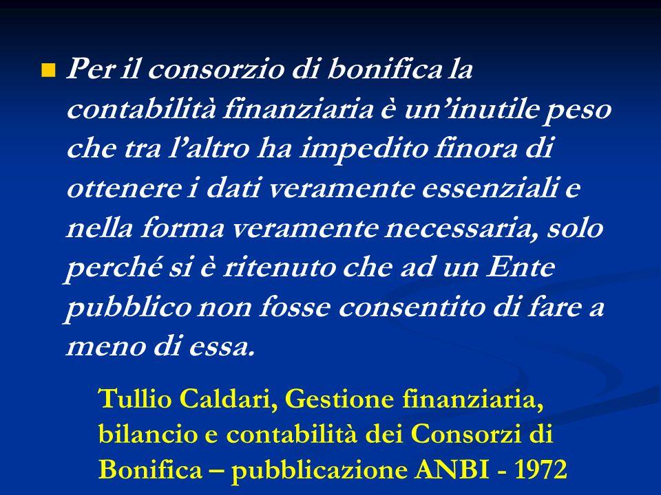 La contabilità economico-patrimoniale ed analitica nei Consorzi di Bonifica Conferenza organizzativa A.N.B.I.