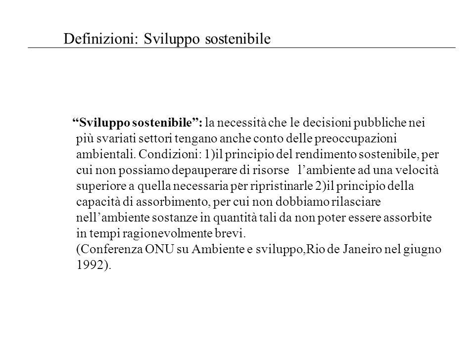 Definizioni: Sviluppo sostenibile D.