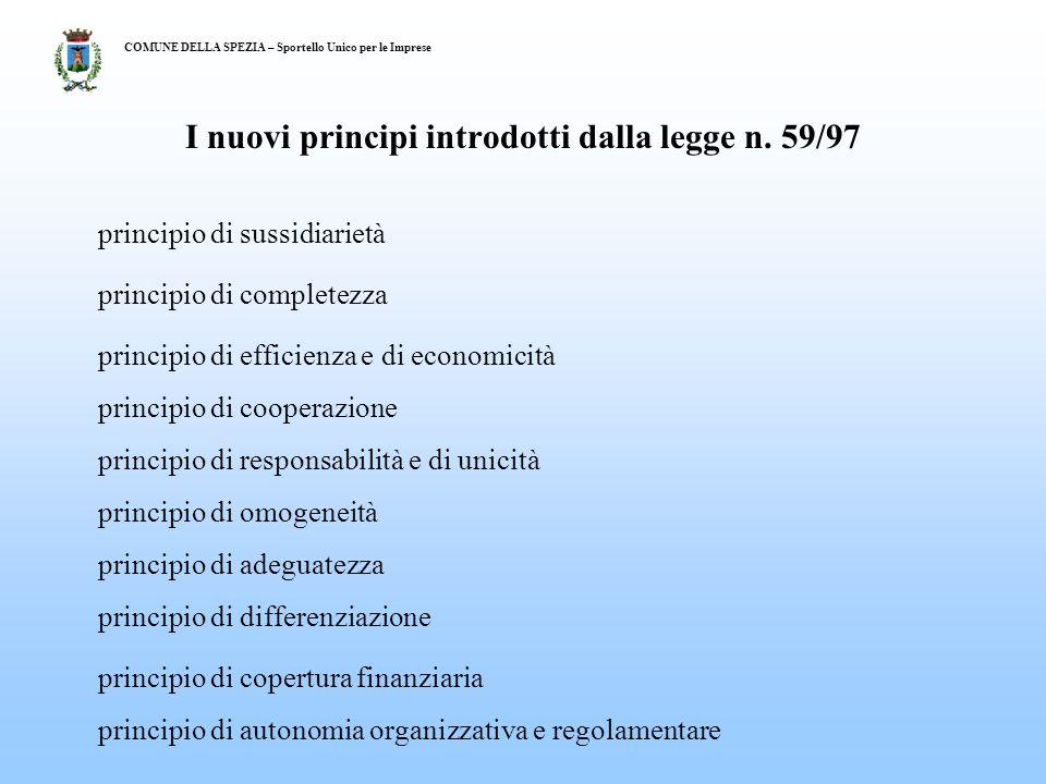 I nuovi principi introdotti dalla legge n.