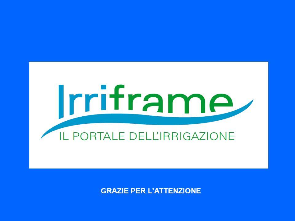 IRRIFRAME Il servizio di assistenza irrigua dei Consorzi di Bonifica Italiani GRAZIE PER LATTENZIONE