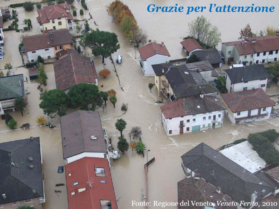 Grazie per lattenzione Fonte: Regione del Veneto, Veneto Ferito, 2010