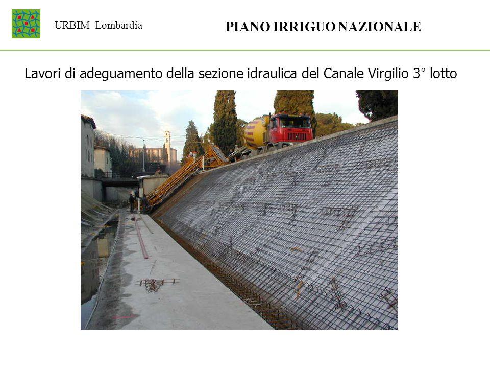 URBIM Lombardia PIANO IRRIGUO NAZIONALE Lavori di adeguamento della sezione idraulica del Canale Virgilio 3° lotto