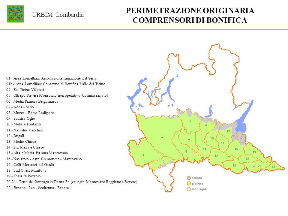 01 - Area Lomellina: Associazione Irrigazione Est Sesia 01b - Area Lomellina: Consorzio di Bonifica Valle del Ticino 04 - Est Ticino Villoresi 05 - Ol
