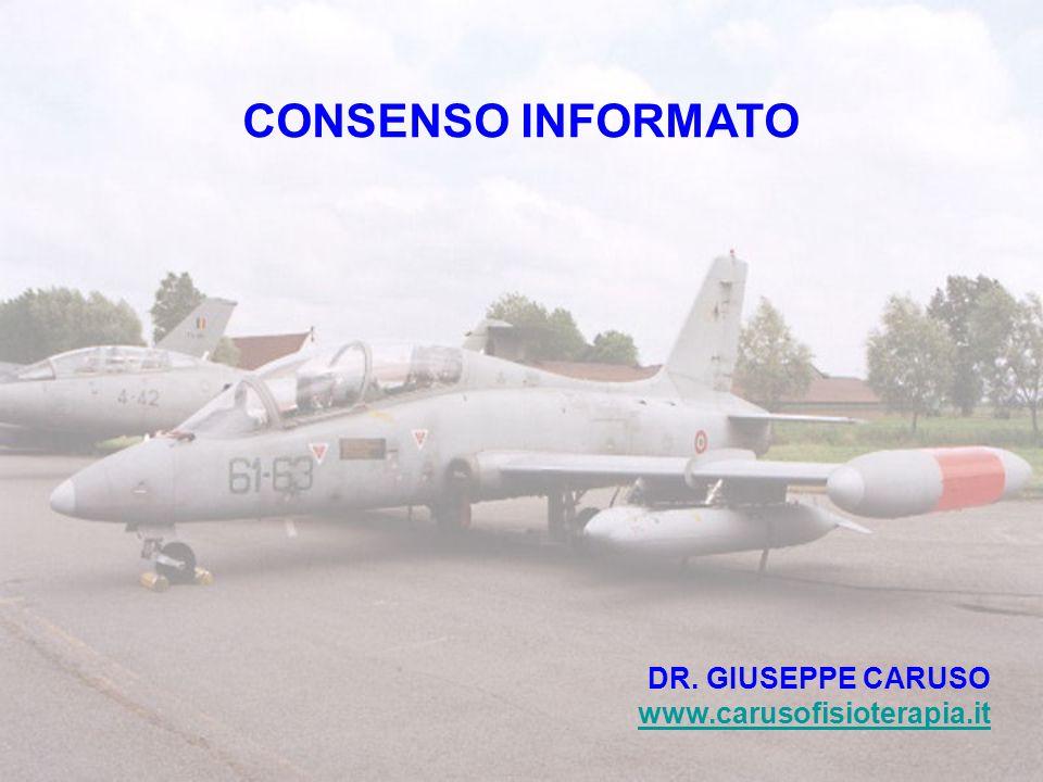 CONSENSO INFORMATO DR. GIUSEPPE CARUSO www.carusofisioterapia.it