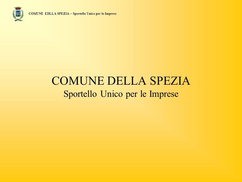 COMUNE DELLA SPEZIA Sportello Unico per le Imprese COMUNE EDLLA SPEZIA – Sportello Unico per le Imprese