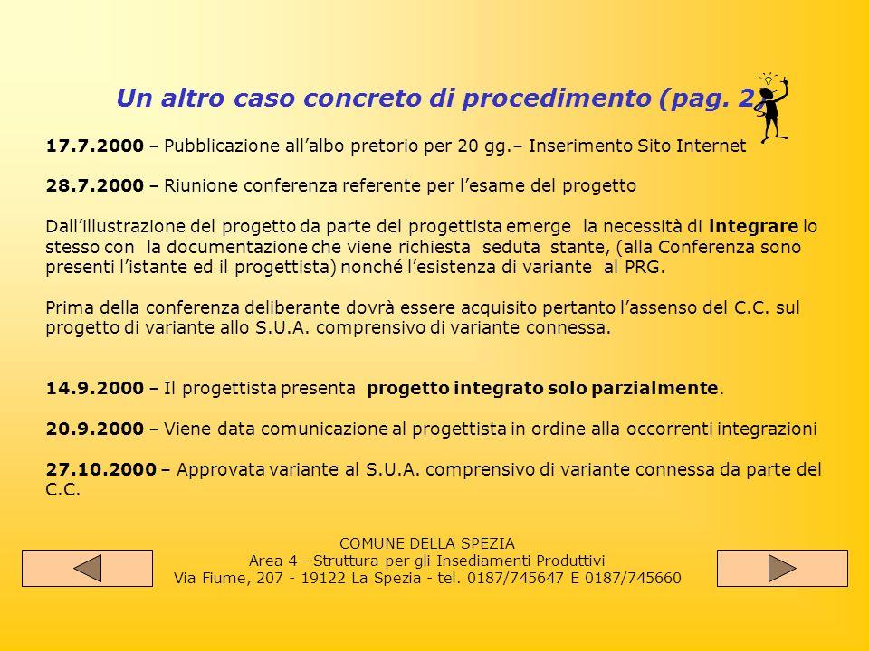 Un altro caso concreto di procedimento (pag.