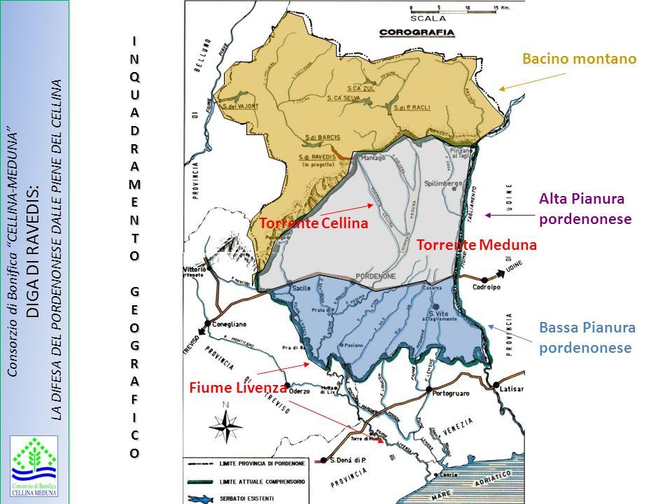SIMULAZIONE EVENTO DI PIENA DEL 4 NOVEMBRE 1966 Consorzio di Bonifica CELLINA-MEDUNA DIGA DI RAVEDIS: LA DIFESA DEL PORDENONESE DALLE PIENE DEL CELLINA Larea di color rosso rappresenta la portata in mc/s di acqua entrante nellinvaso.