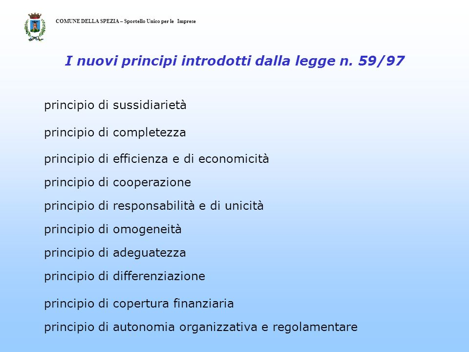 COMUNE EDLLA SPEZIA – Sportello Unico per le Imprese Fig. 6