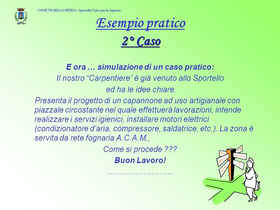15 2° Caso Esempio pratico 2° Caso E ora … simulazione di un caso pratico: Il nostro Carpentiere è già venuto allo Sportello ed ha le idee chiare.