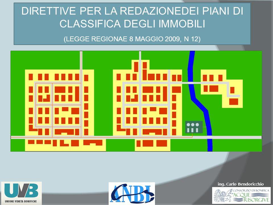 ing. Carlo Bendoricchio DIRETTIVE PER LA REDAZIONEDEI PIANI DI CLASSIFICA DEGLI IMMOBILI (LEGGE REGIONAE 8 MAGGIO 2009, N 12)