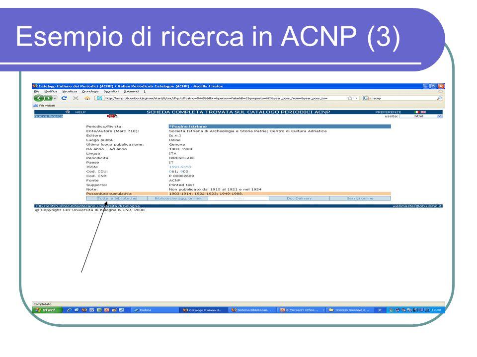 Esempio di ricerca in ACNP (3)