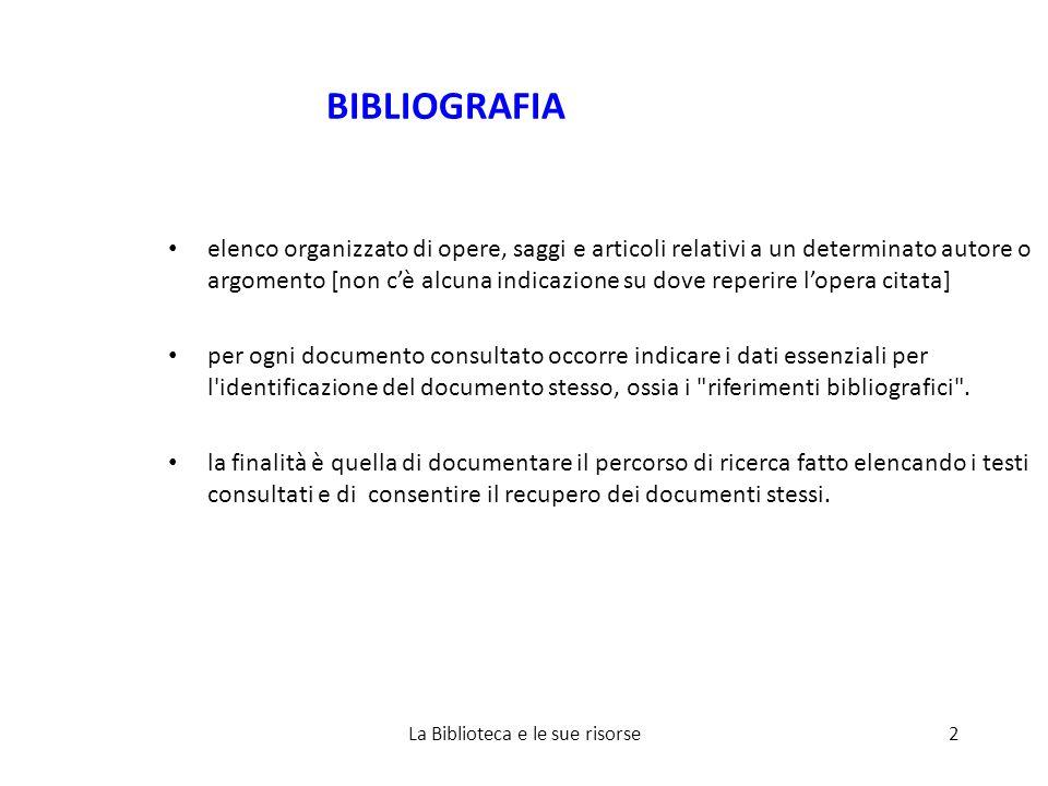 Alcuni link: RefWorks SBA: http://www.cab.unipd.it/node/128http://www.cab.unipd.it/node/128 Promo:http://www.cab.unipd.it/system/files/RWminipromoNEW.pdfhttp://www.cab.unipd.it/system/files/RWminipromoNEW.pdf Guida rapida in italiano: http://www.refworks.com/content/documents/RefWorks_Quick_Star t_Guide_Italian.pdf Aggiornamento agosto 2008: http://www.refworks.com/rwsingle/help/RefWorks.htm?tsmp=12197 43436779#New_Release_Notes.htm La Biblioteca e le sue risorse43