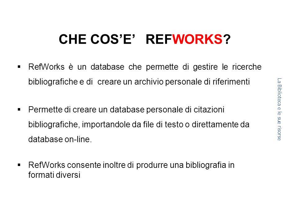 CHE COSE REFWORKS.