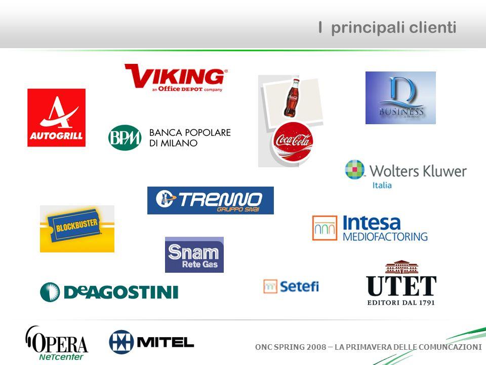 ONC SPRING 2008 – LA PRIMAVERA DELLE COMUNCAZIONI I principali clienti