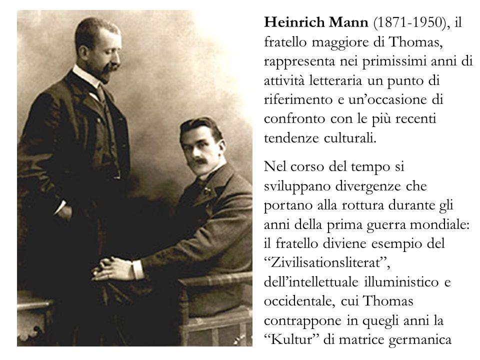 Heinrich Mann (1871-1950), il fratello maggiore di Thomas, rappresenta nei primissimi anni di attività letteraria un punto di riferimento e unoccasion