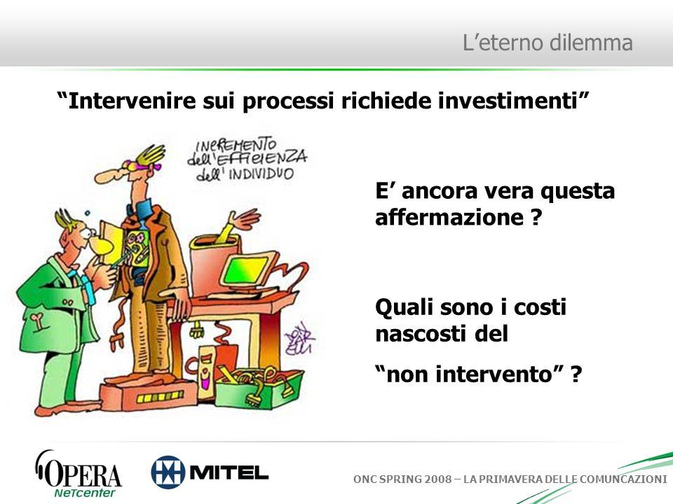 ONC SPRING 2008 – LA PRIMAVERA DELLE COMUNCAZIONI Opera Netcenter: I servizi